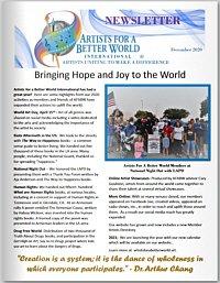 Artists for a Better World International - Newsletter - December 2020