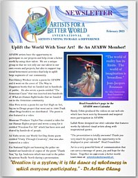Artists for a Better World International - Newsletter - February 2021