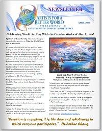 Artists for a Better World International - Newsletter - April 2021