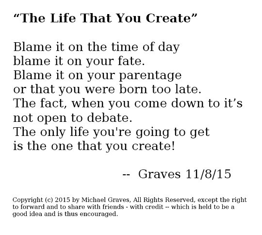The Life That You Create